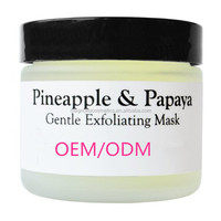 OEM/ODM Wonderful Quality Herbal Pineapple and Papaya Organic Gentle Exfoliating Enzyme Facial Mask with Chamomile and Comfrey