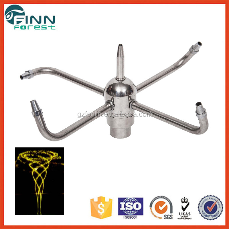 Hot sale stainless steel spinning fountain rotary nozzle