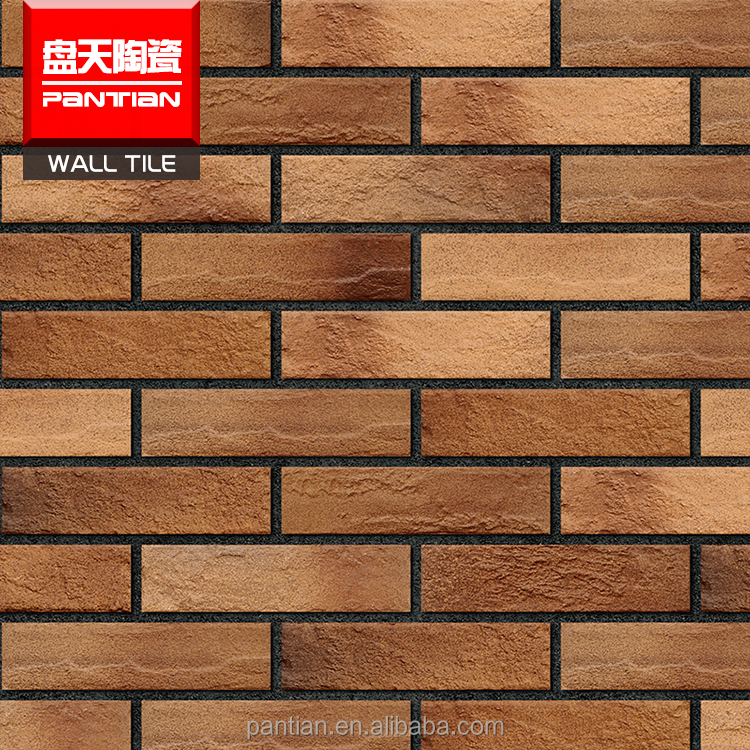 Antique lightweight red exterior wall brick ceramic picture tiles wall tile design picture importers in africa