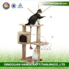 QQ factory wholesale handcraft natural sisal cat house & indoor luxury cat houses