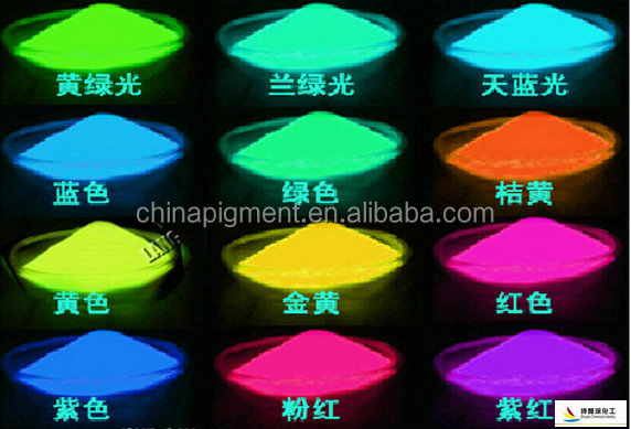 Long lasting glow in the dark powder pigment for nail art, photoluminescent pigment powder, luminous powder supplier