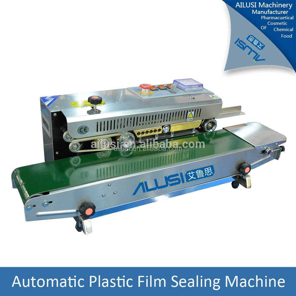 continuous bag sealers with date printing horizontal band sealer and coder machine