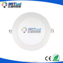 Ultra slim round surface mounted led panel light 6w 18w 24w led recessed ceiling light