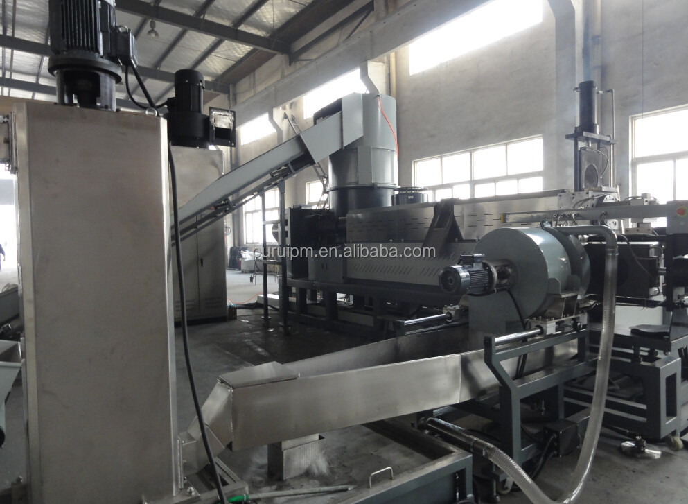 Double Stage Waste Agricultural film Recycling Granulating Machine