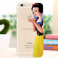 Custom Cartoon characters phone case for iphone 4/4s plus clear snow white PC hard phone case for iphone 4 4S