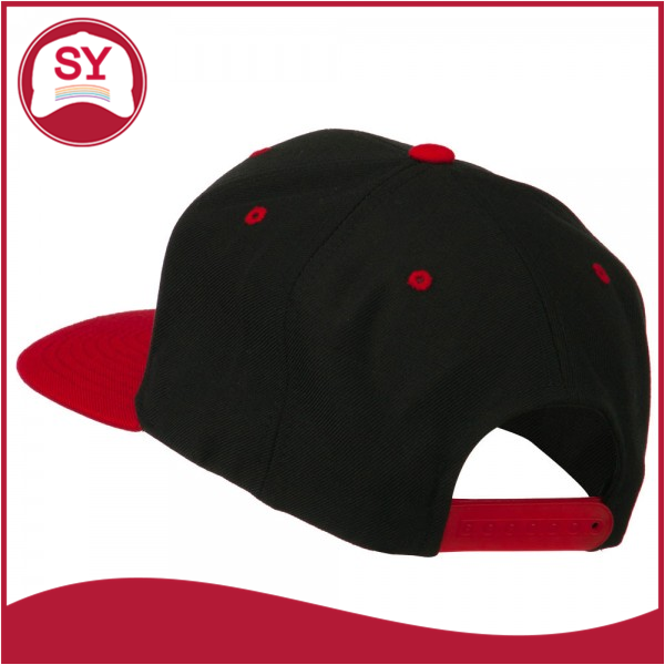 Hip Hop Style 3D Embroidered Classic Two Tone Snapback Cap With flat bill