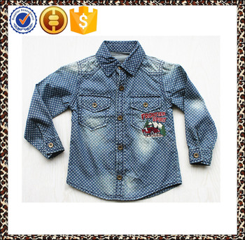 2015 new style kid shirt, long sleeve shirt for boys