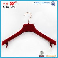 red flocking suit hangers with metal hook