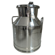 stainless steel milk can with lid 25L
