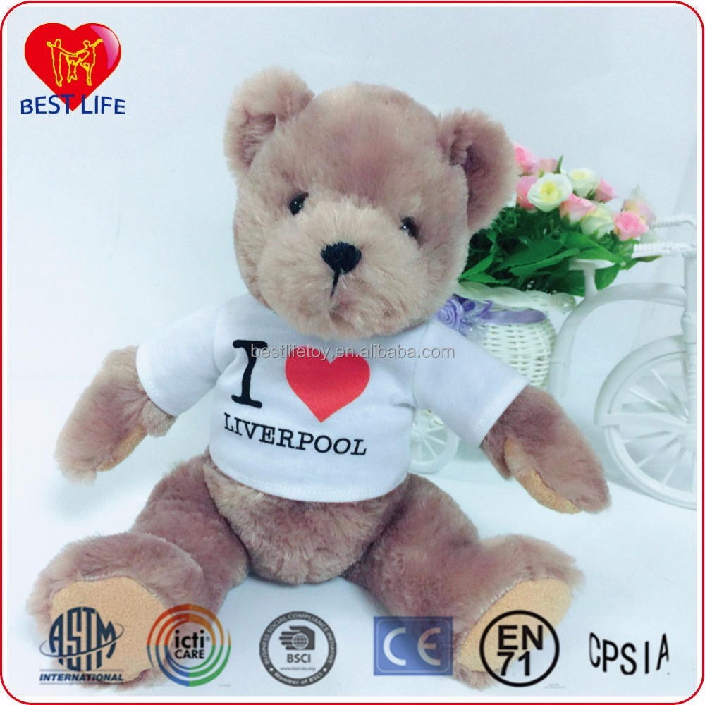 2016 hot sale Plush teddy bear Toy Best Selling Teddy Bear with t-shirt (PTAL1608069)