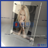 "Sexy girl hot sale acrylic high quality 8"" picture photo frame with custom logo"