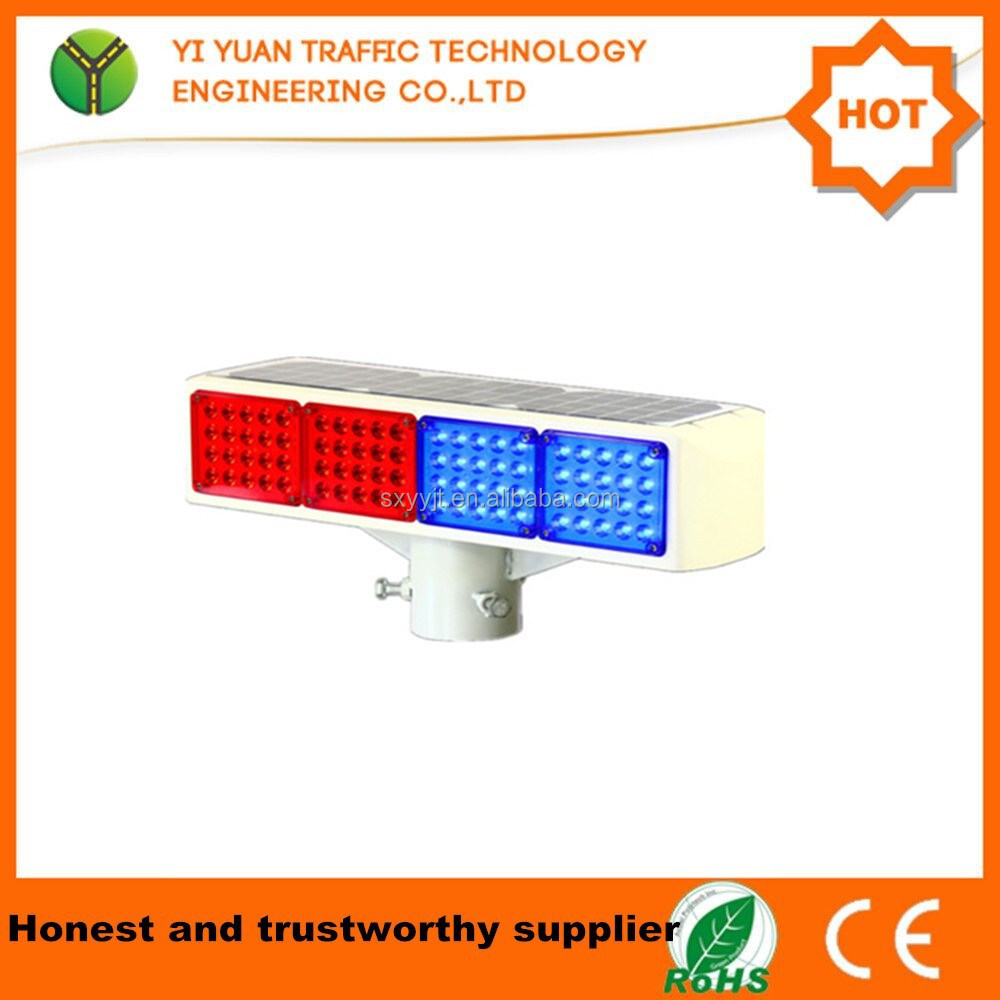 Visual distance is greater than 800 meters high clear LED solar traffic light flasher