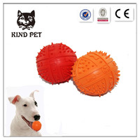 factory price colorful soft squeaky ball natural rubber turkey dog toy