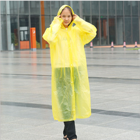 Hot Sale Transparent Plastic Rain Gear Disposable Portable Raincoat Outdoor Adult Poncho