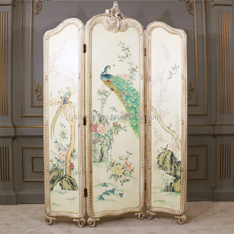 French Folding Screens : Elegant french rococo style full size decorative folding