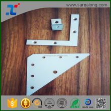Flat brackets of galvanized steel mending plates