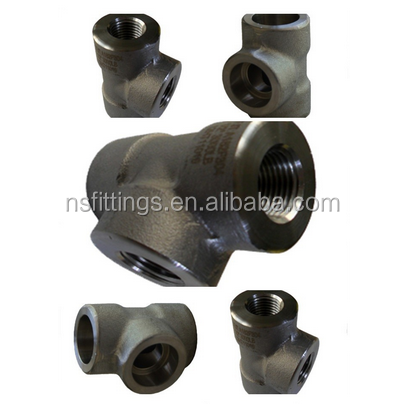 stainless steel F22 ASME B16.11 tee NPT pipefittings class3000/6000