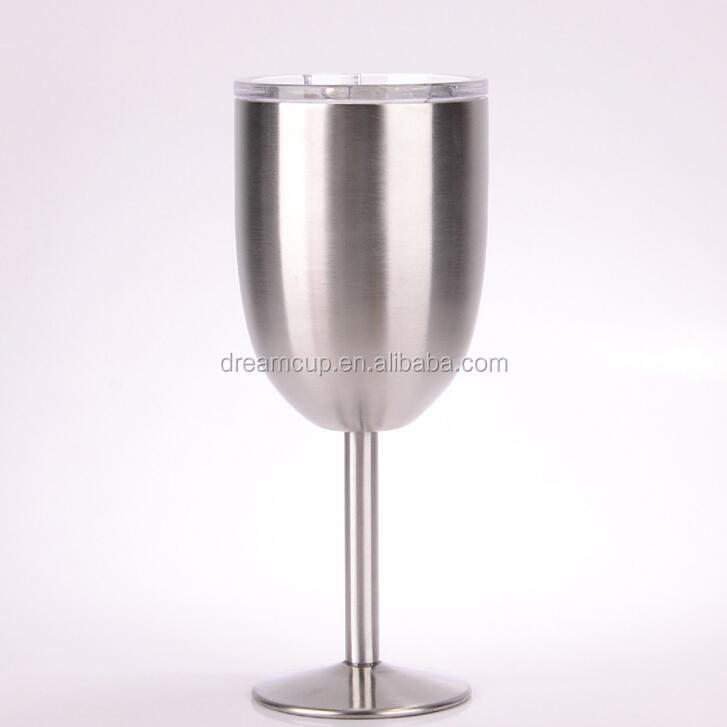 2017 Durable Stainless Steel Metal Wine Glass Pure Copper Beer Cup Red Wine Goblet with Long Stem