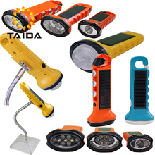 Multi-functional Solar Rechargeable Flashlight Magnetic Led Light Car Work Light USB Rechargeable Flashlight