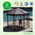 Pet product wholesale outdoor gazebo with metal roof