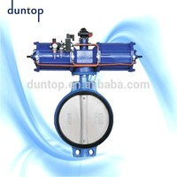 SALE WELL Double flanged double eccentric rubber seated butterfly valve made in China