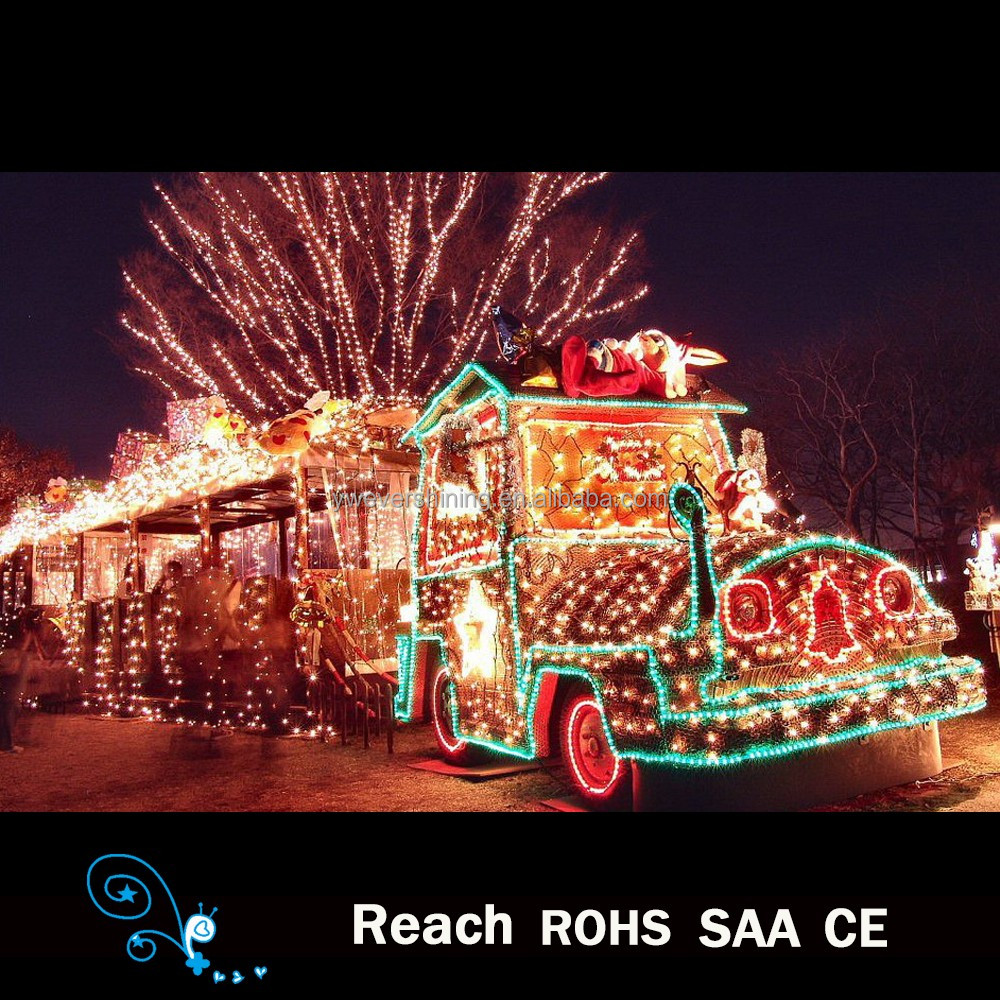 Outdoor Holiday plaza led lights decoration train motif christmas 3D led motif lights decorative night lights motif train
