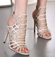2016 Sexy Ladies Snakeskin pattern high heel sandals