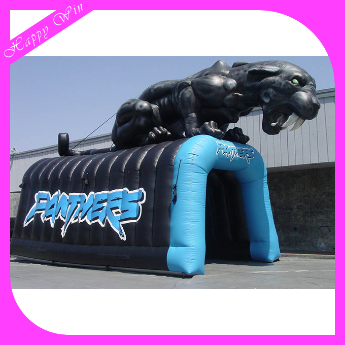 amazing inflatable animal tunnel,customized inflatable football tunnel with shaped,high quality