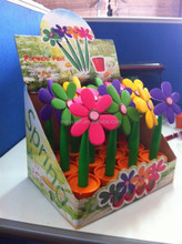 soft pvc rubber flower pot pen