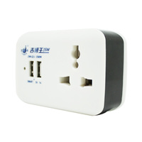 China supplier Multi-function philippines 2 pin flat plug portable socket outlet with dual usb charger