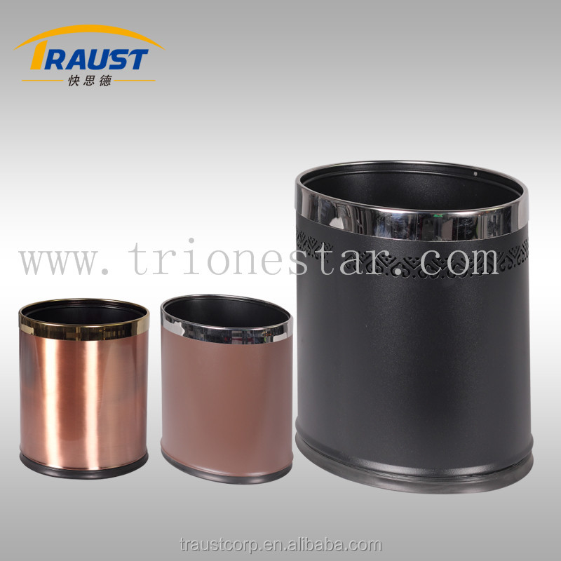 Hotel Room Dustbin/Trash Box Leather/Sanitary Bins
