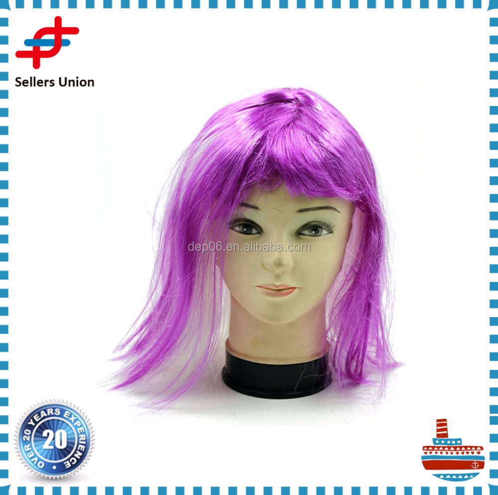 Promotional Hairpieces Purple Wig synthetic for Party