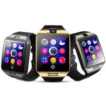 2017 New Arrival Android Smart Watch Bluetooth Q18 GSM smartwatch built-in NFC functions Digital Mobile Phone