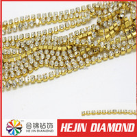 Bulk sale high quality cup chain rhinestone crystal cupchain for women trimming
