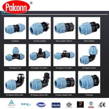 Plastic PP compression fitting PN16 Blue A480