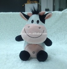 ICTI factory custom happy cow toy funny cow toy plush stuffy cow toy