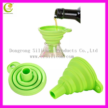 Multifunctional collapsible promotional gifts silicone cooking funnel