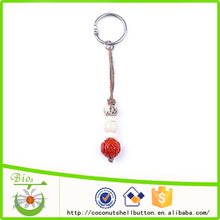 10.5cm red engrave Chinese amulte resin bead custom all types of keychains
