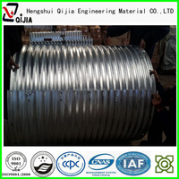 galvanized steel pipe corrugated steel tunnel liner plates road culverts corrugated metal pipe with asphalt