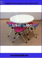 plastic outdoor convenient portable and foldable table with seats for leisure, picnic