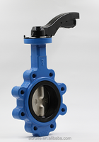 Lever Operated lug/wafer Type CF8 Muanual Butterfly Valve