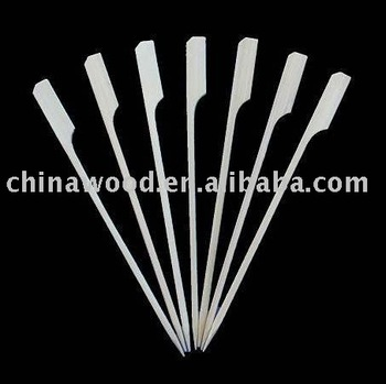 white color bamboo Skewer