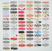 wholesale New mix designs chosen 16pcs x1 pack nails art stickers foils patch tips wraps decorations Sexy leopard print&508