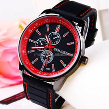 men and lady watch 2014 new design Grind leather vogue watch Wrist watch