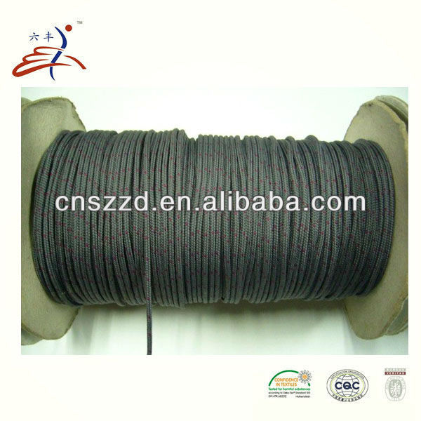 waxed polyester cord for zipper