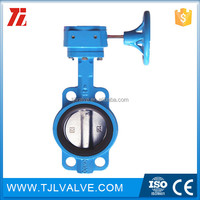 wafer type di/ci/ss gear butterfly valve without pin resilient seat water