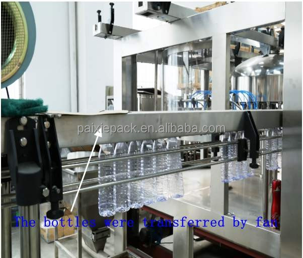 Trade assurance supplier linear type water filling machine boltteling line for water factory with PLC controlled