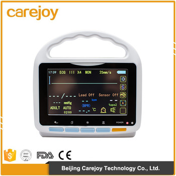 2017 Hot sale Portable 5 Inch TFT Multi-Parameter Patient Monitor ECG NIBP SPO2 PR TEMP price