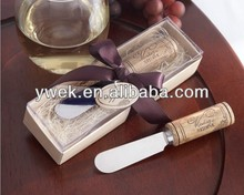 2013 newest fashion resin handle butter knife spreader wedding gifts