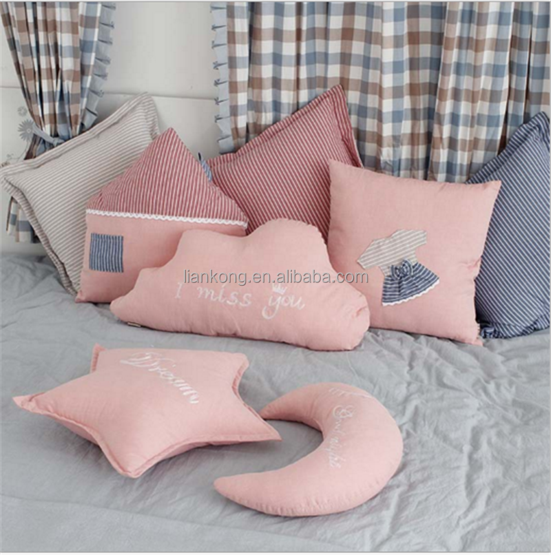New design lovely and cute star/cloud/heart pillow for house